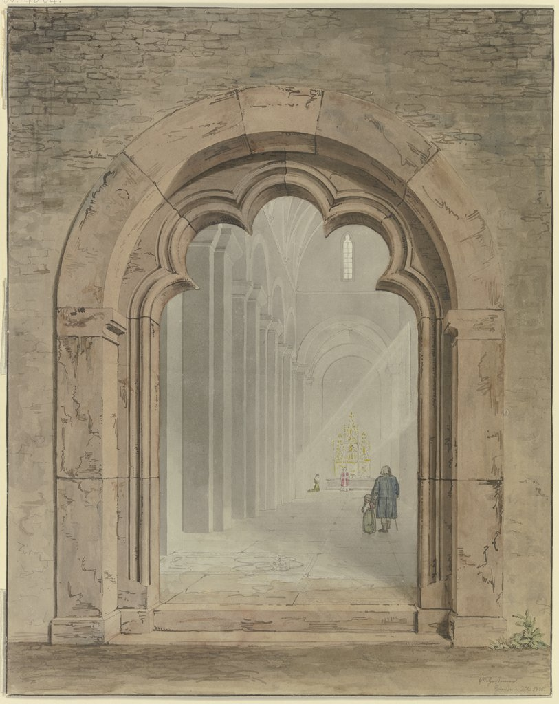 Church portal, Friedrich Maximilian Hessemer