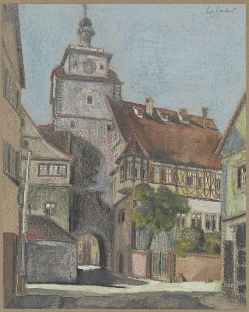 Rödertor in Rothenburg, Fritz Hoeber