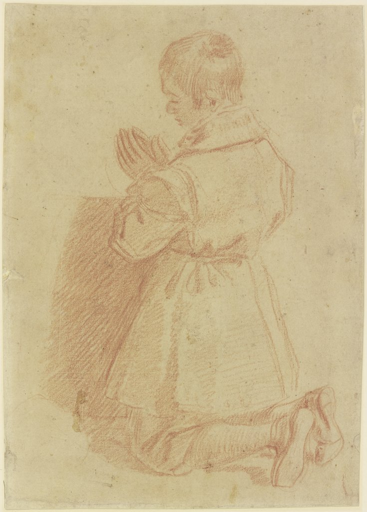 Kneeling, praying boy, Santi di Tito