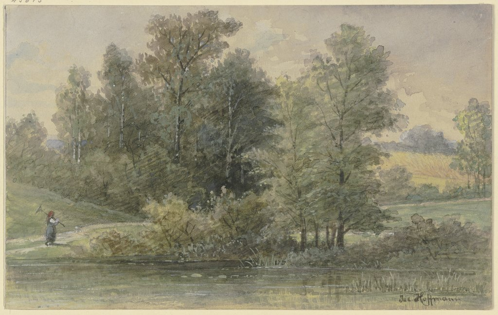 Edge of the forest with stream, Jacob Hoffmann
