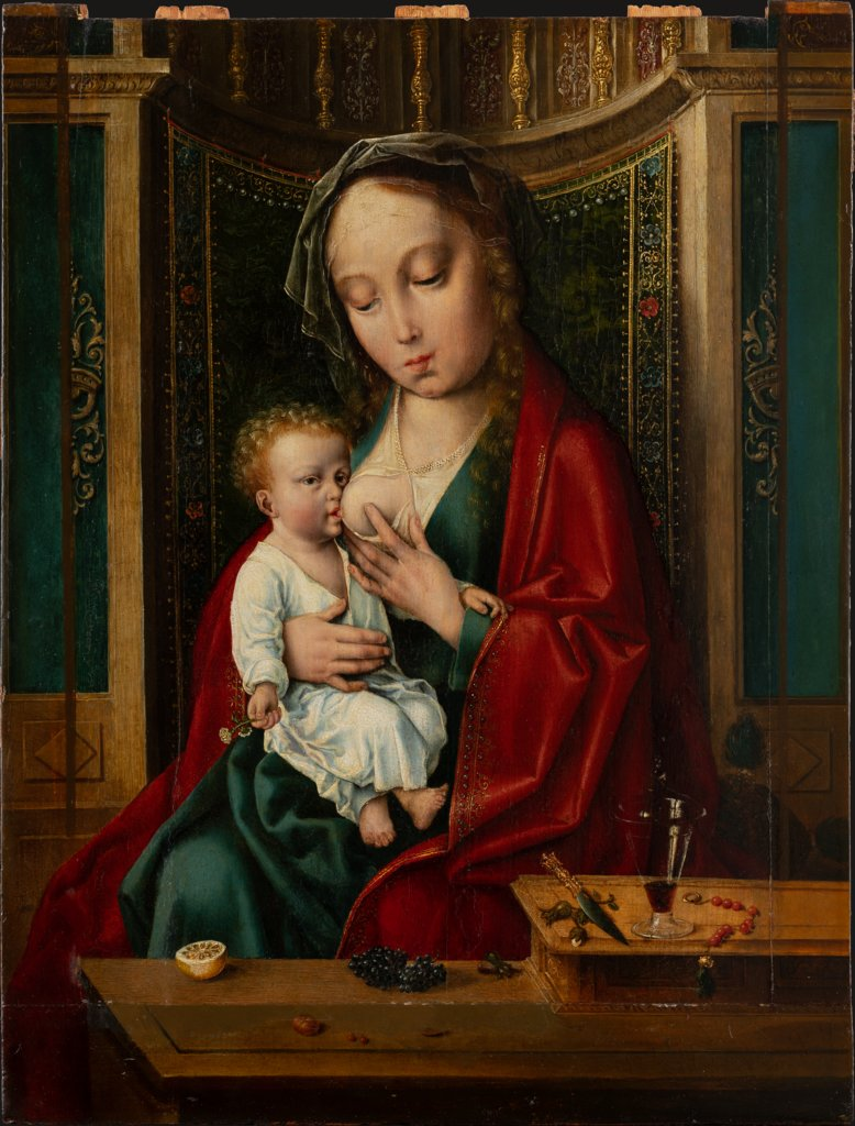 Madonna and Child in a Niche, Joos van Cleve  workshop