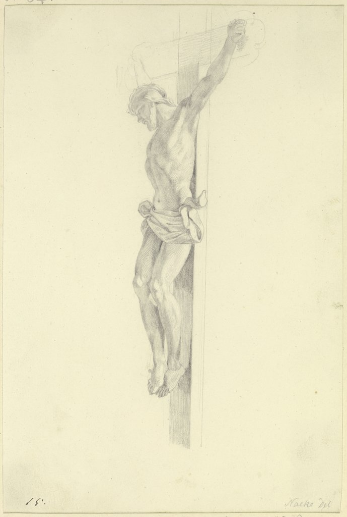 Christ on the cross, Gustav Heinrich Naeke
