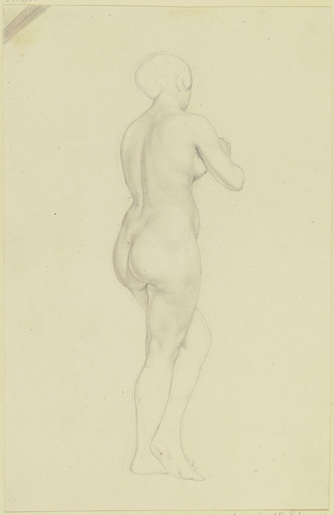 Female nude from behind, Bonaventura Genelli