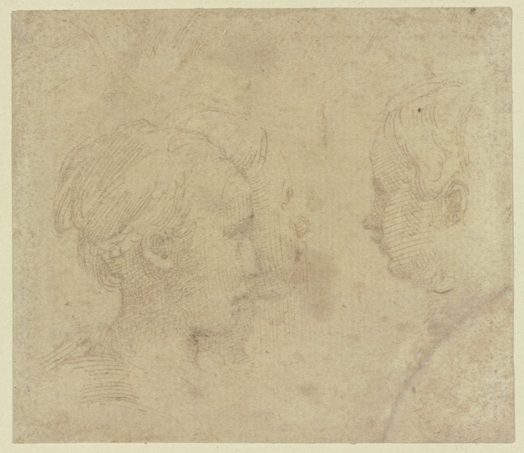Three heads in profile, Parmigianino   ?