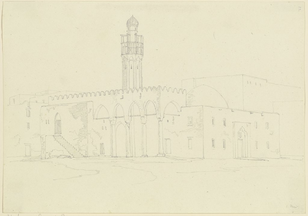 Egyptian mosque, Friedrich Maximilian Hessemer