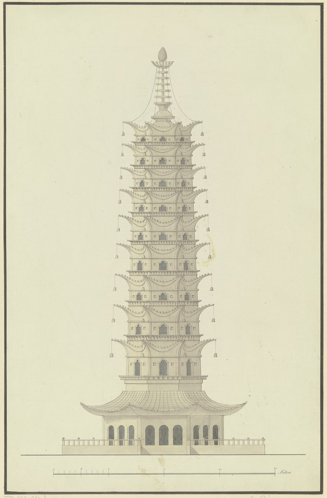 The porcelain tower, Gustav Rügemer, after Friedrich Maximilian Hessemer