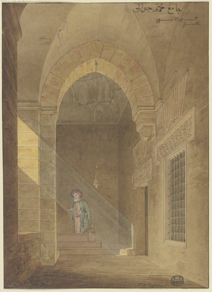 Egyptian prayer room, Friedrich Maximilian Hessemer