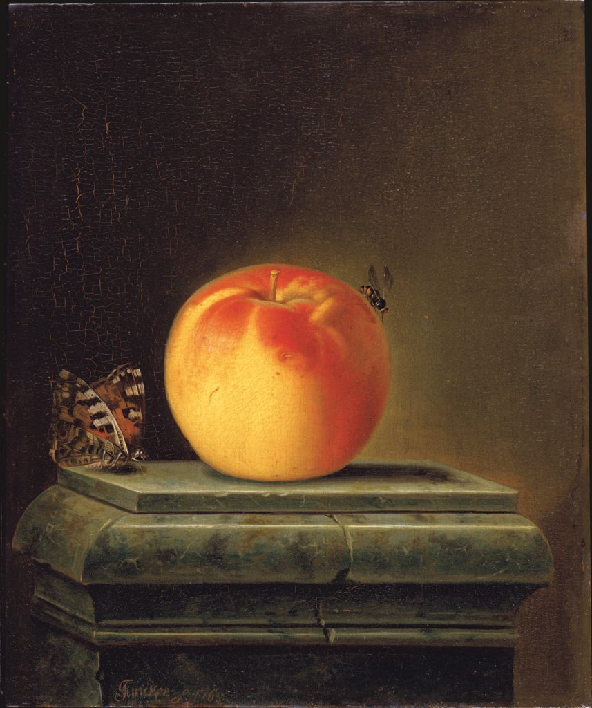 Still Life with Apple and Insects, Justus Juncker