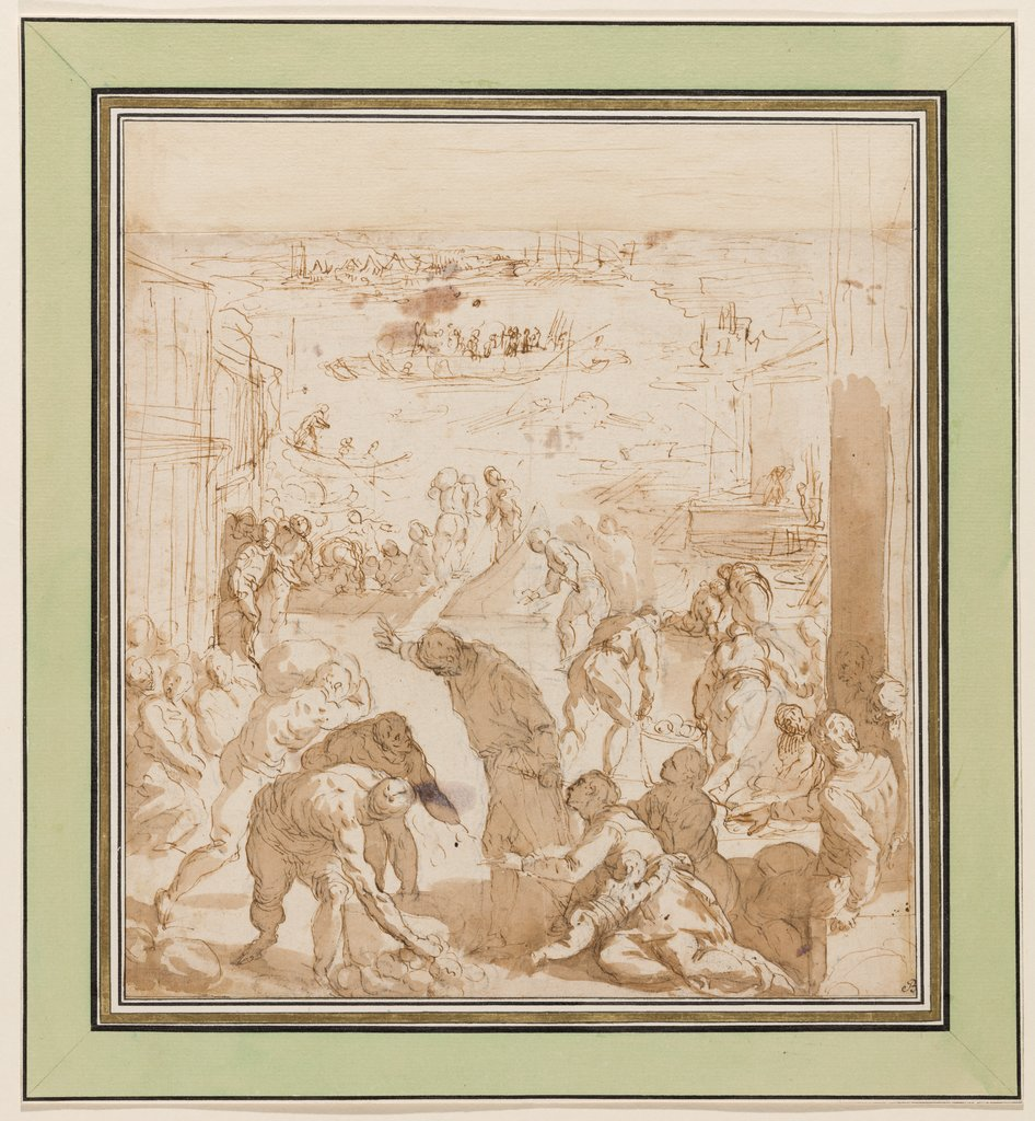 The Venetians Defend Themselves against the Siege of Pippin, Jacopo Palma il Giovane