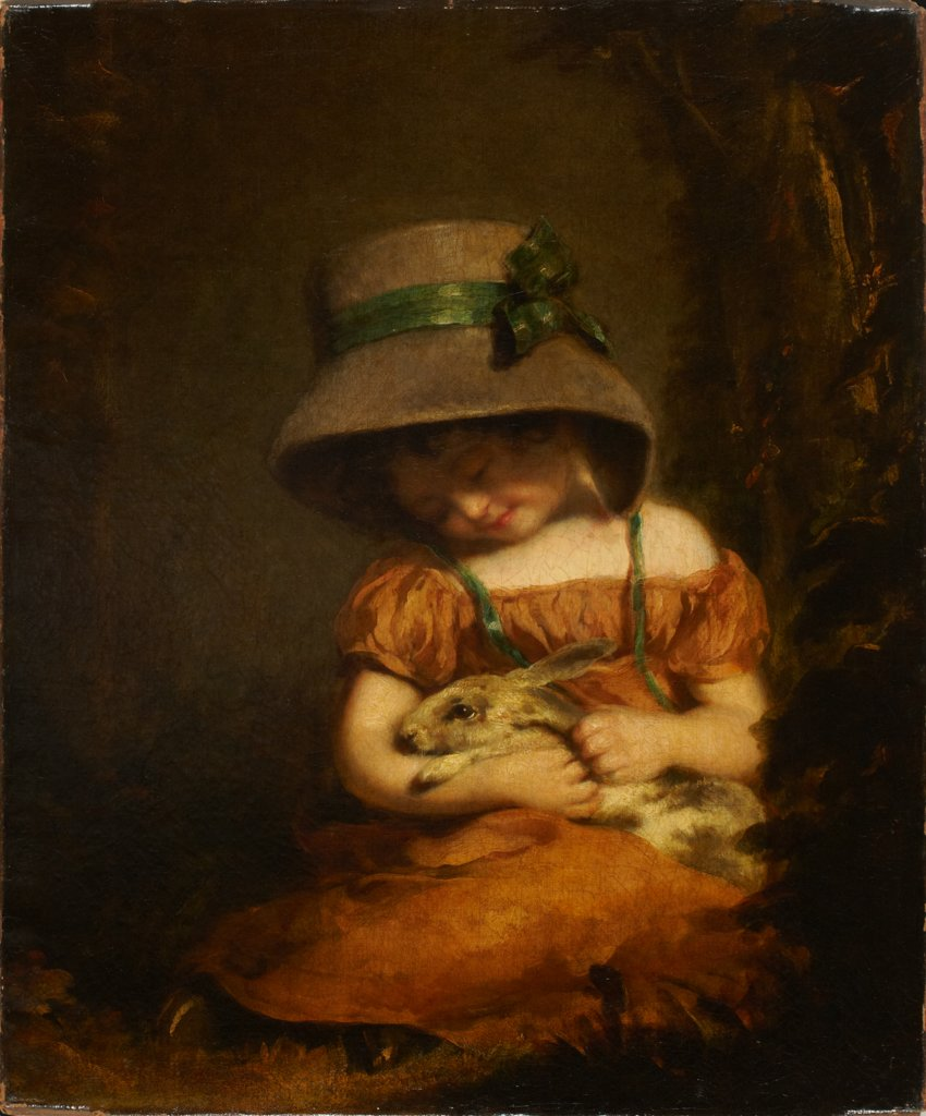 Girl with a Rabbit, John Hoppner