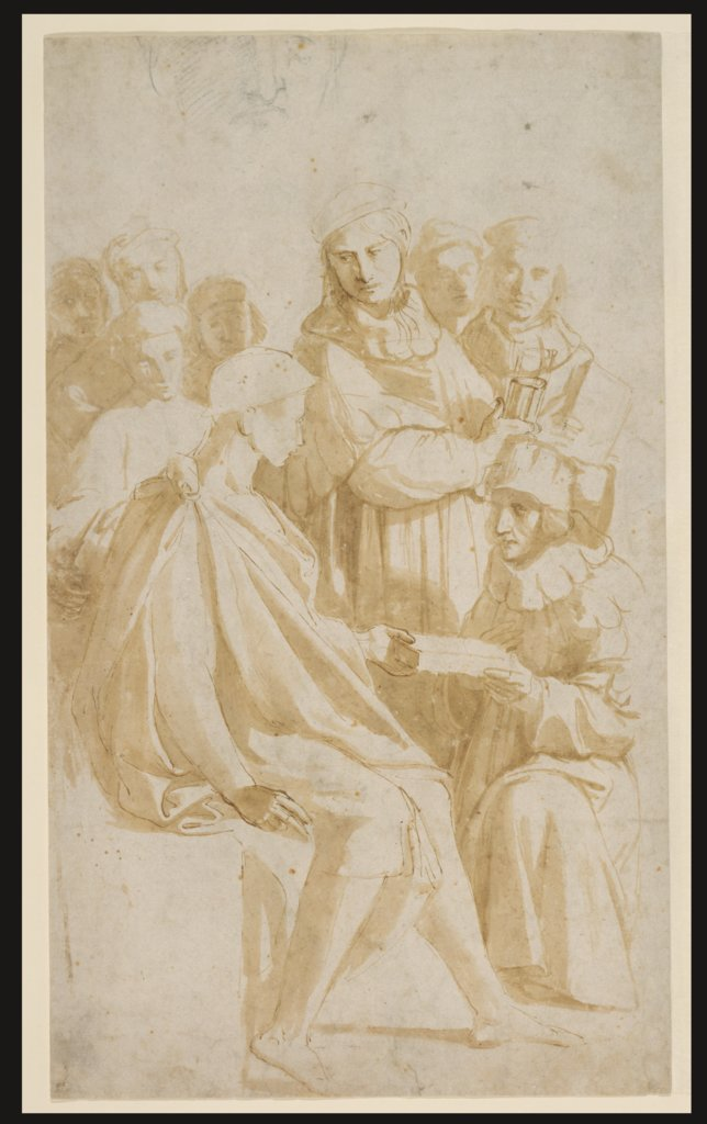 The Handing Over of the Pandects, Raphael, Raphael  Werkstatt