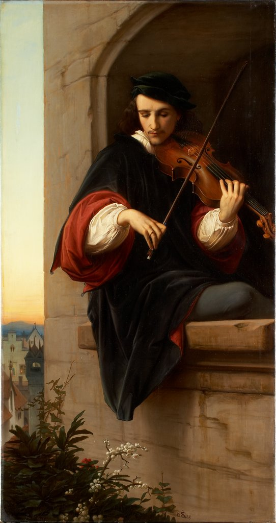 Violinist in the Belfry Window, Edward von Steinle