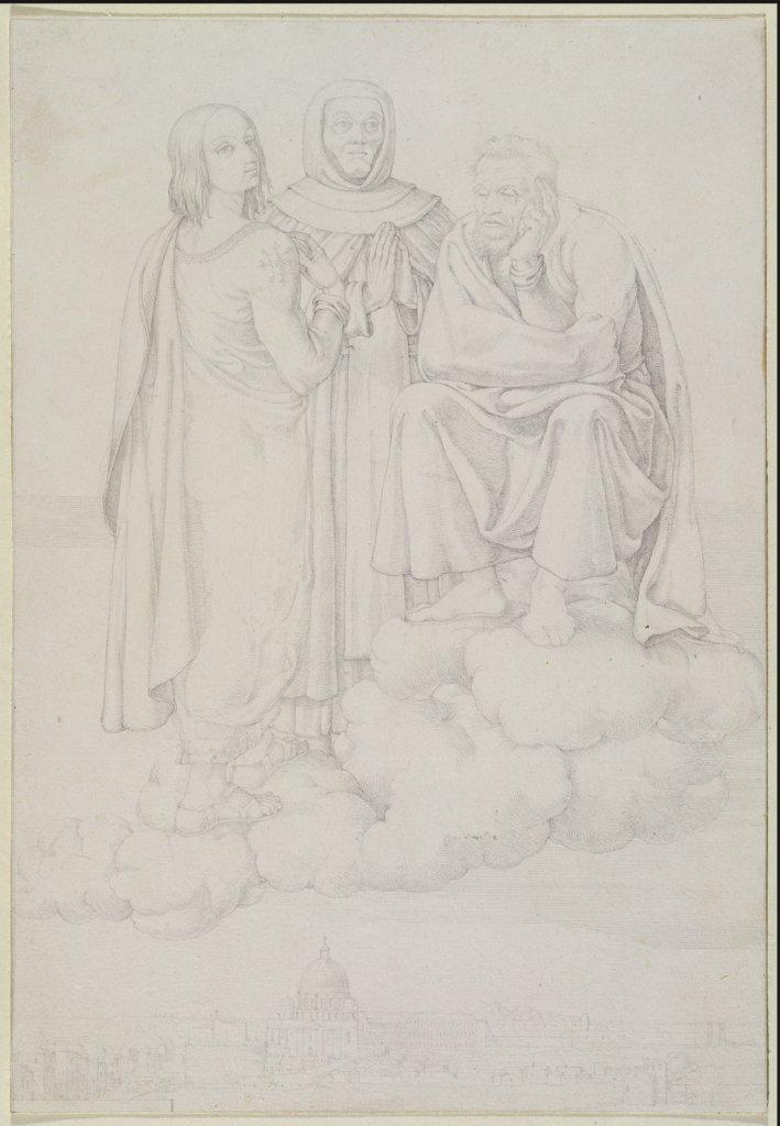 raffael fra angelico und michelangelo auf einer wolke ber rom franz pforr - Michelangelo Lebenslauf