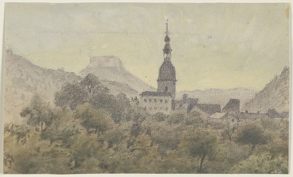 Schandau with the Lilienstein, Friedrich Eugen Peipers