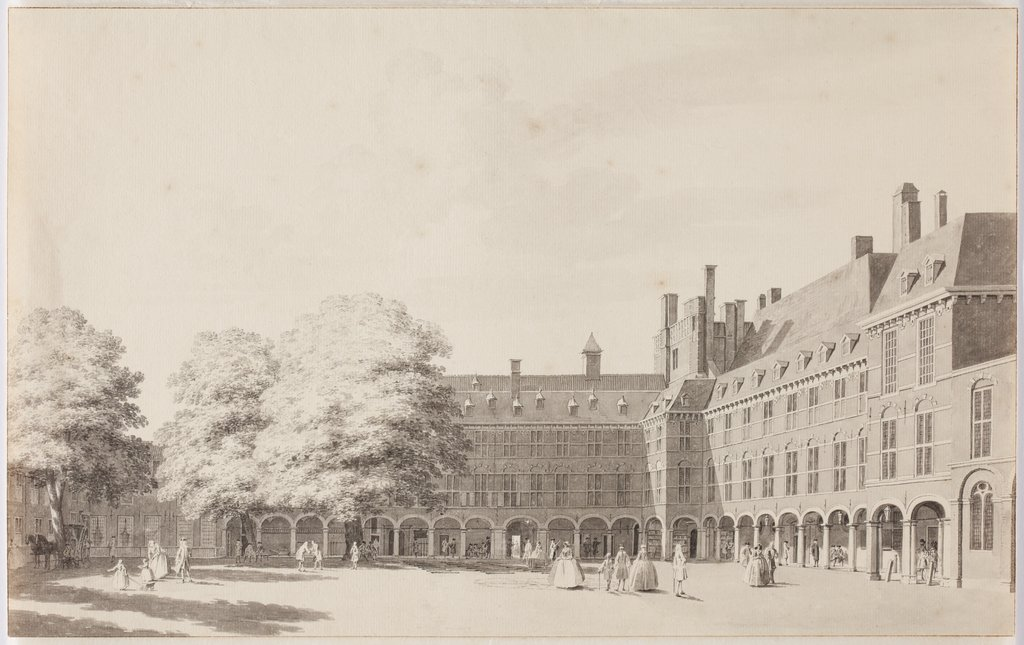 'Binnenhof' in The Hague, Cornelis Pronk