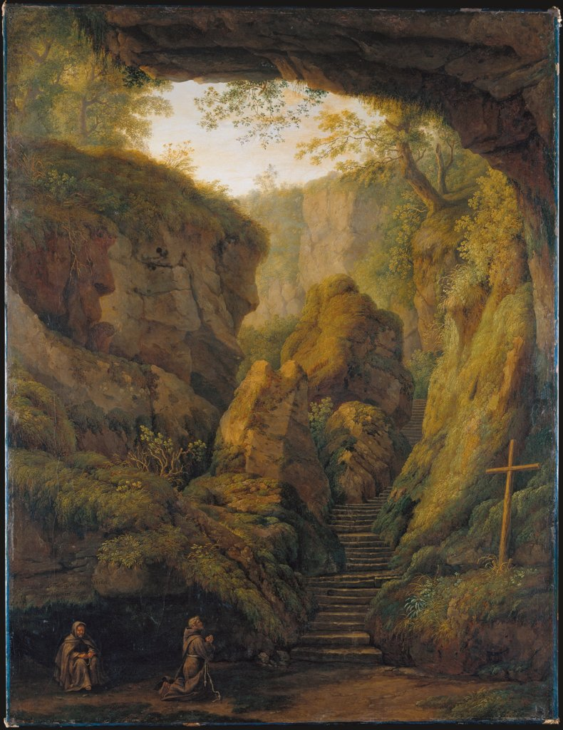 Saint Francis' Grotto on Monte Verna, Jakob Philipp Hackert