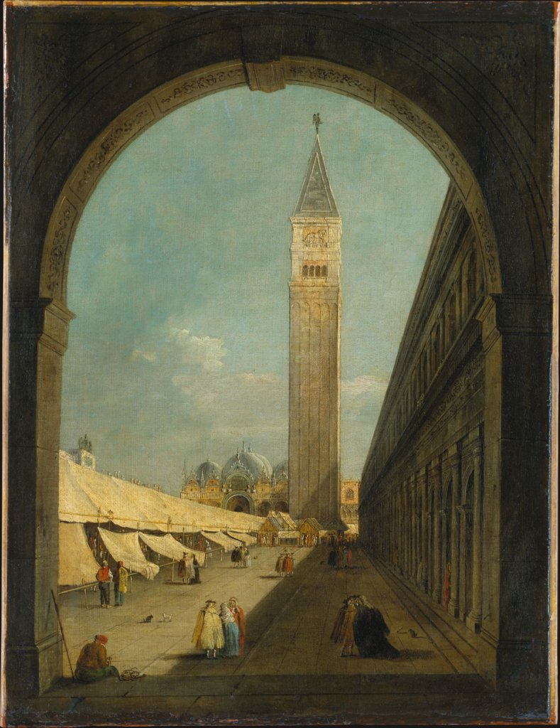 Saint Mark's Square in Venice, Giacomo Guardi