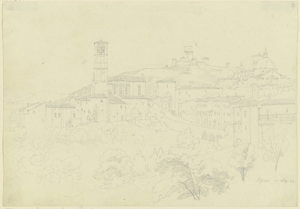 View of Assisi, Friedrich Maximilian Hessemer