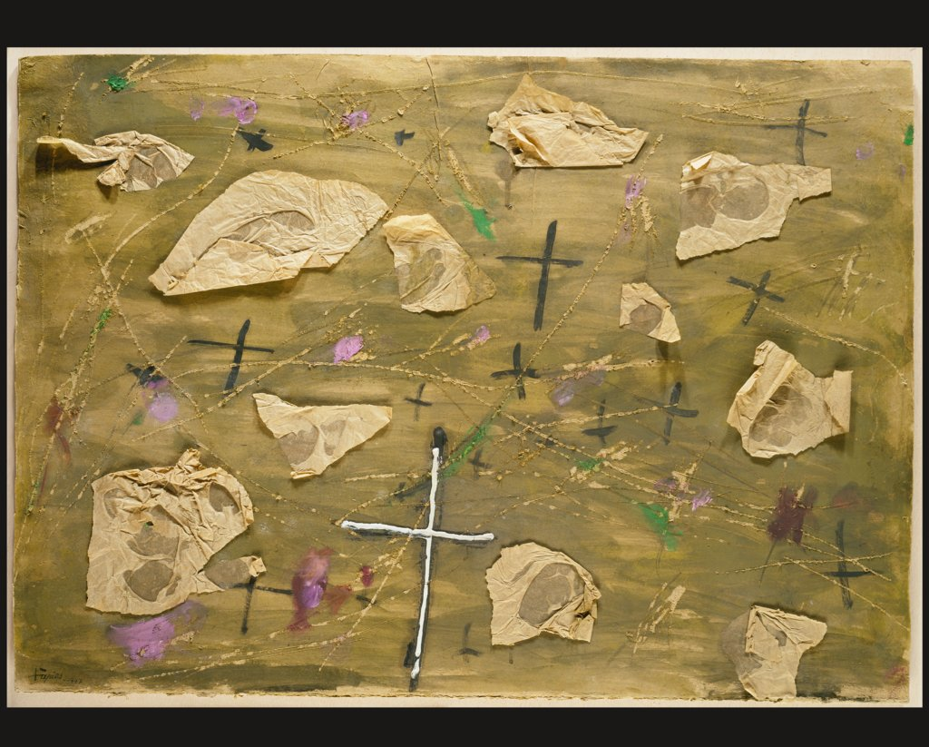 Collage with the Crosses, Antoni Tàpies