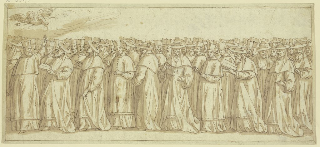 Procession of clergymen, Italian, 17th century