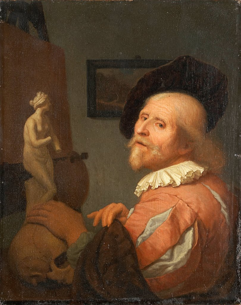 Portrait of an Artist in His Studio, Godfried Schalcken