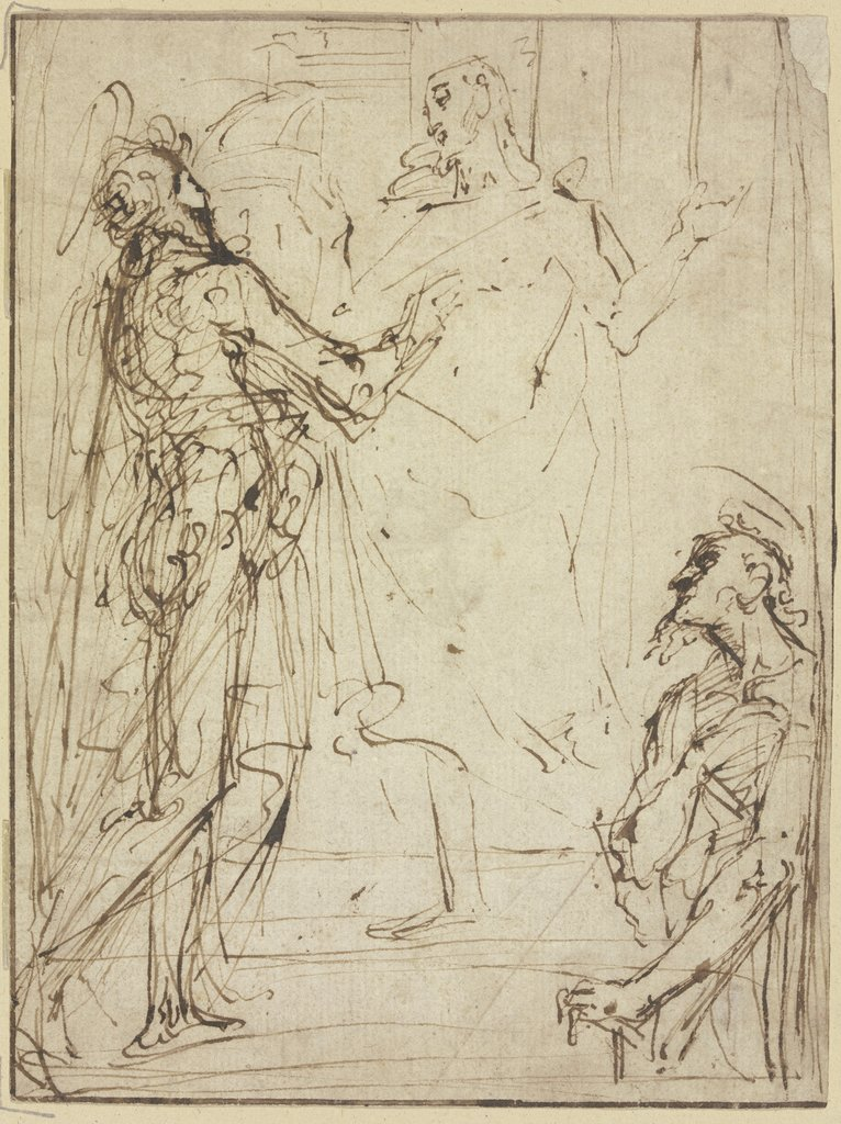 Christ and Thomas, Italian, 17th century