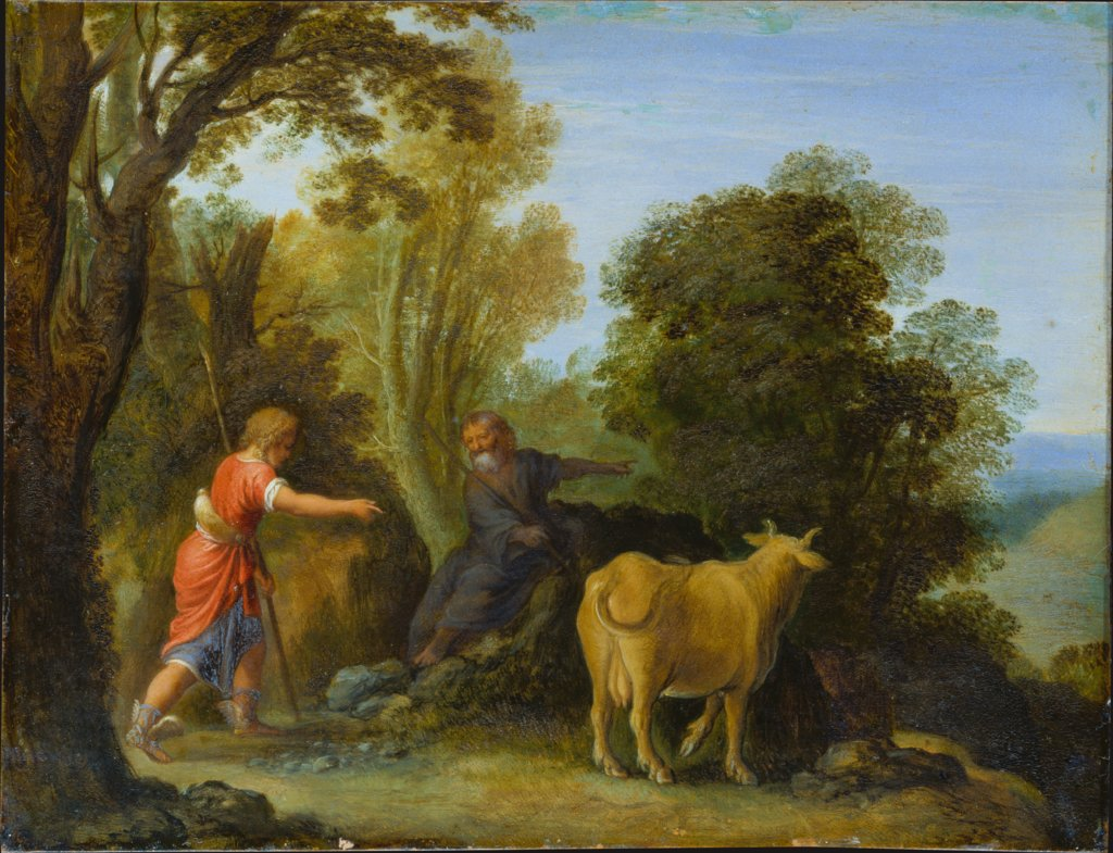 Mercury and Battus, Art des Adam Elsheimer