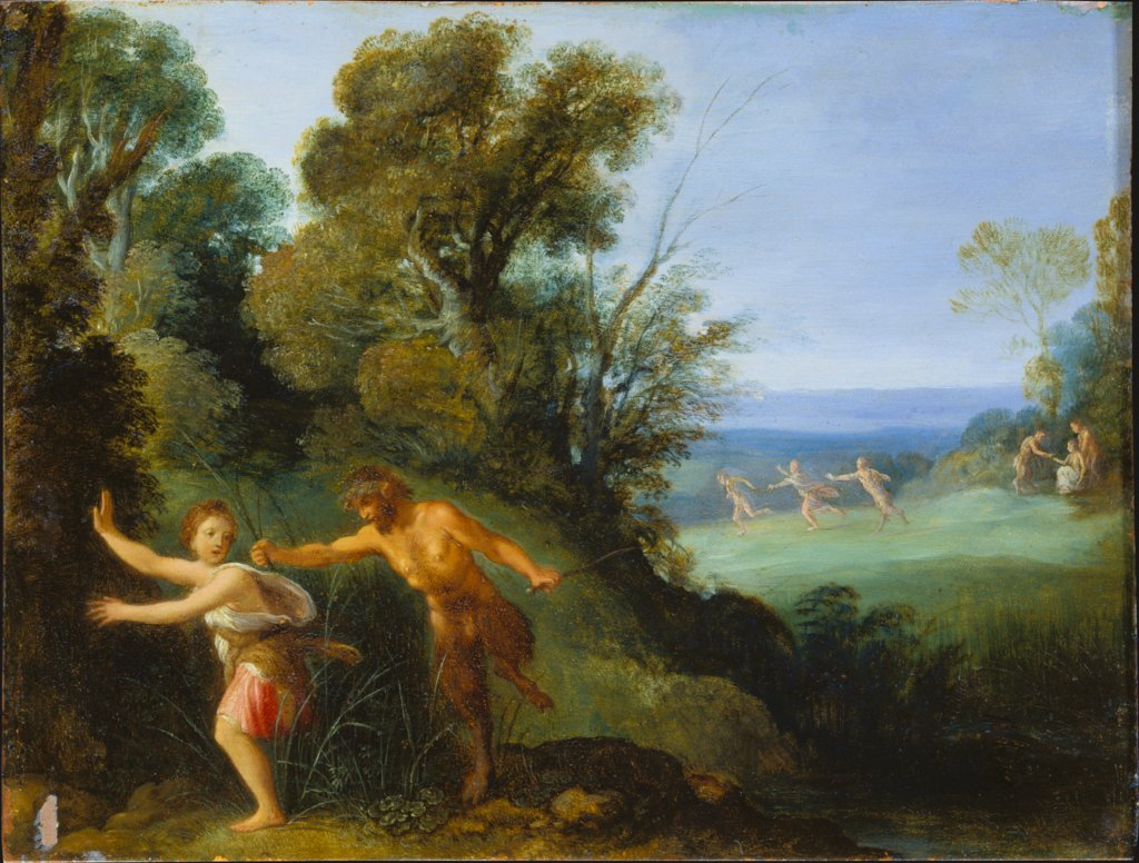 Pan and Syrinx, style of Adam Elsheimer