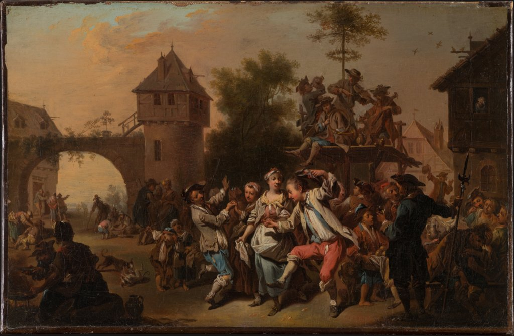 Outdoor Dance in a Village, Johann Conrad Seekatz