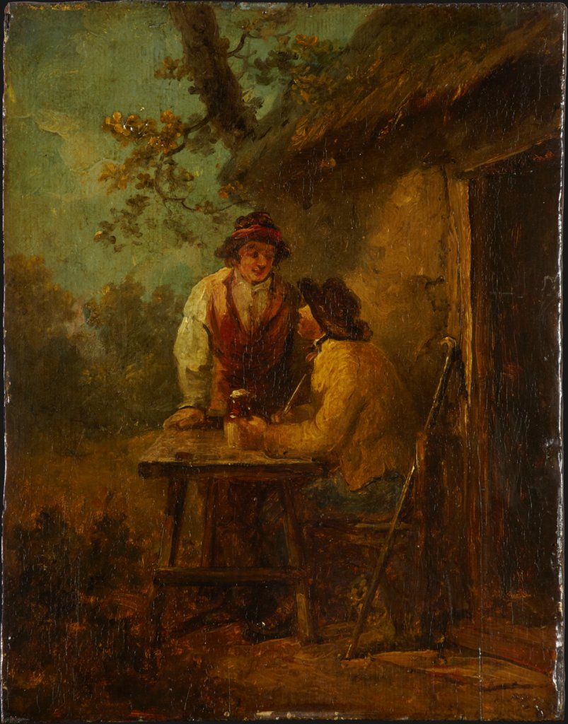 Peasants in front of a Hut, George Morland