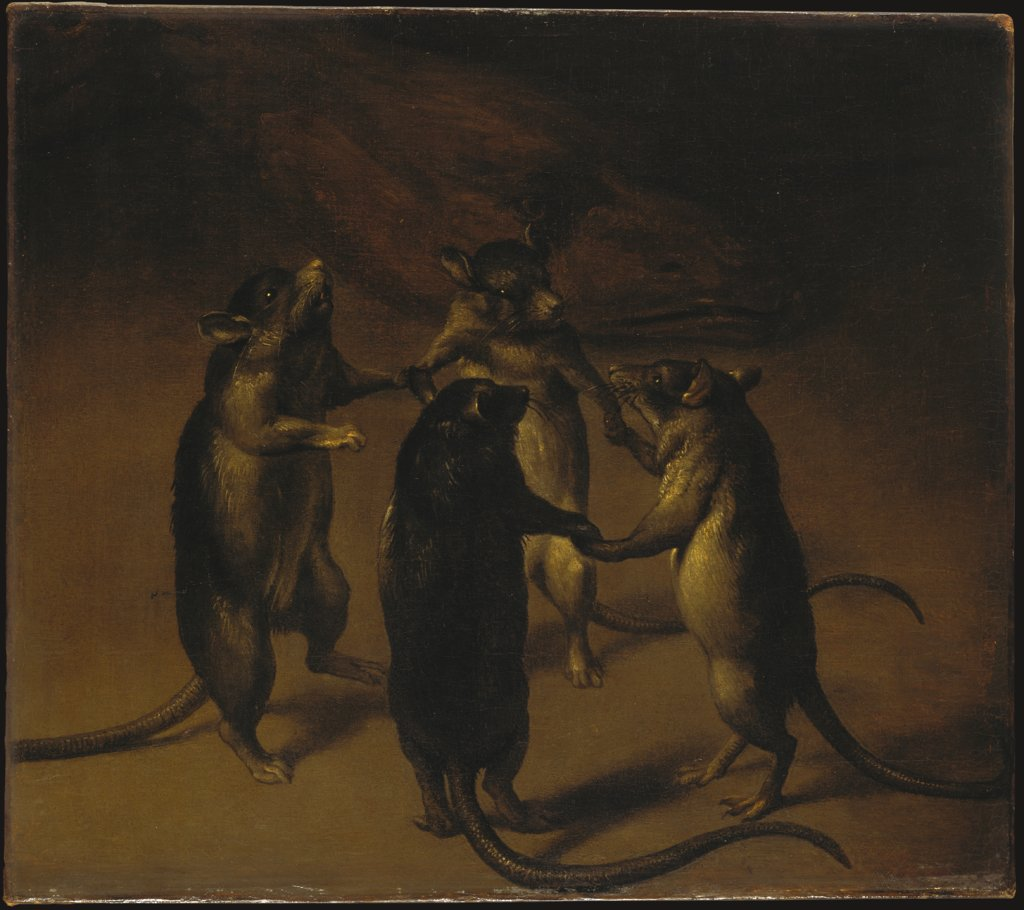 The Dance of the Rats, Ferdinand van Kessel   attributed