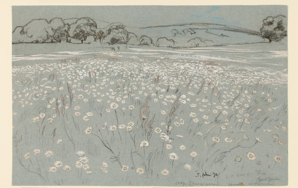 Meadow with Daisys, Hans Thoma