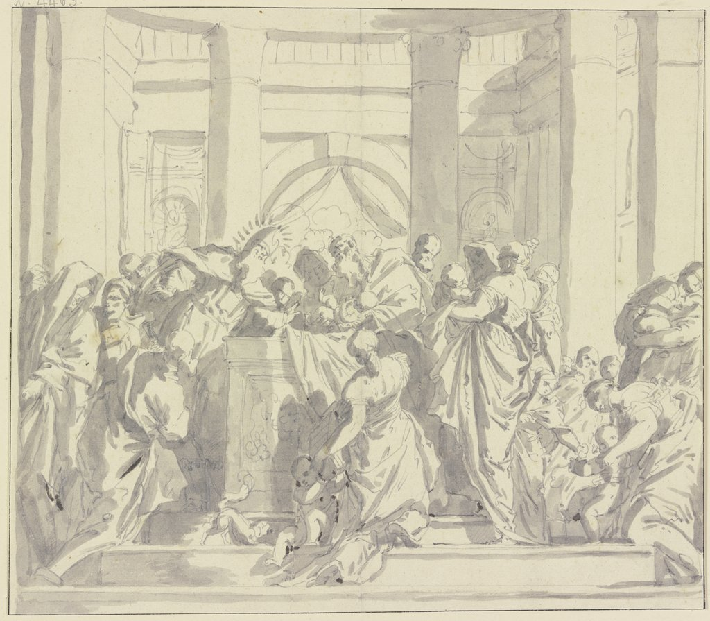 Depiction in the temple, Unknown, 17th century, after Paolo Veronese