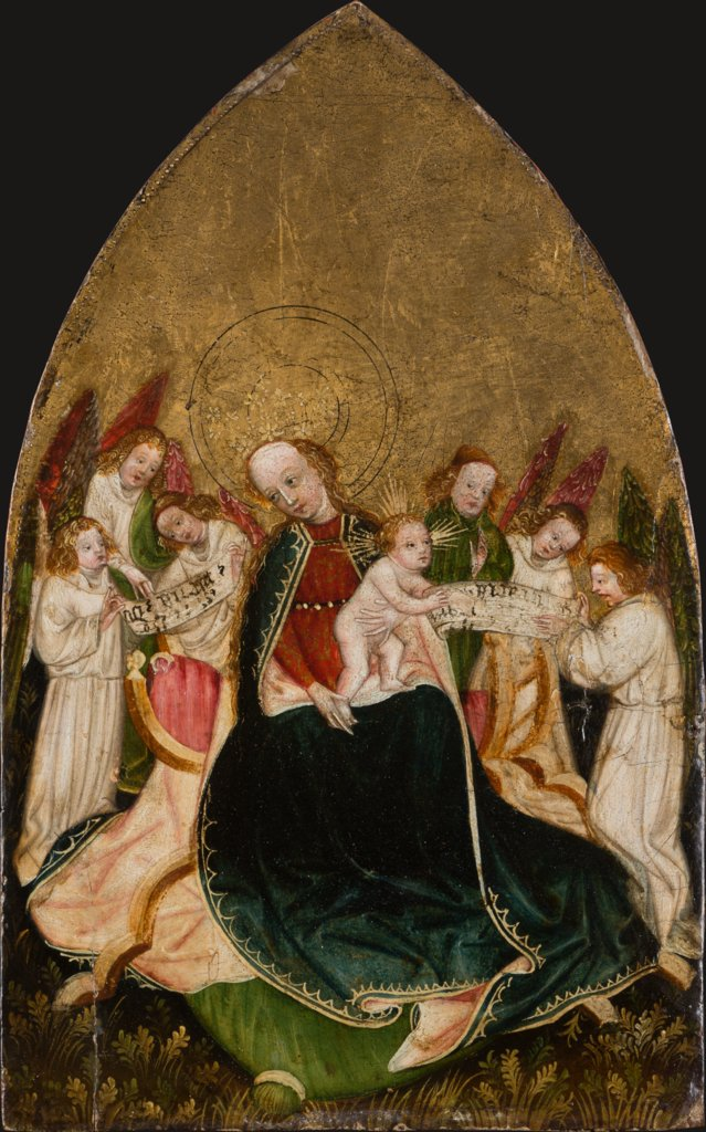 Virgin with Child Enthroned, Surrounded by Angels, Swabian or Upper-Rhenish Master around 1430