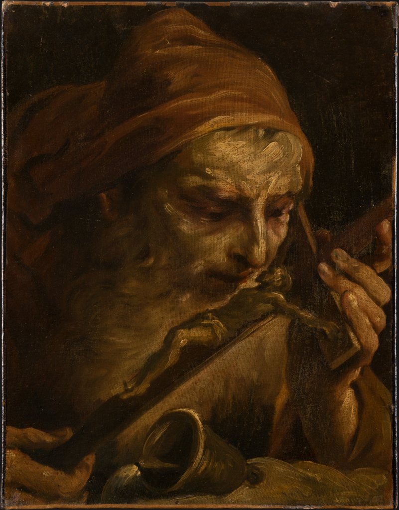 Anthony the Abbot Kissing the Crucifix, Giuseppe Maria Crespi