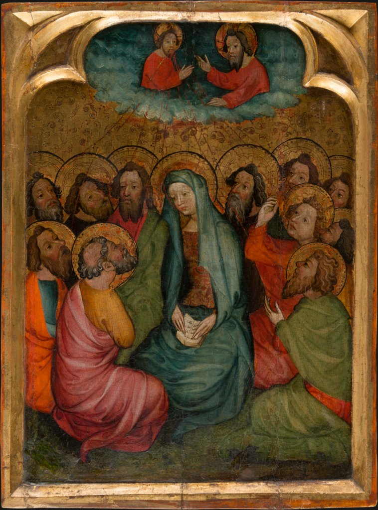 Pentecost, Spanish Master first half of the 15th century