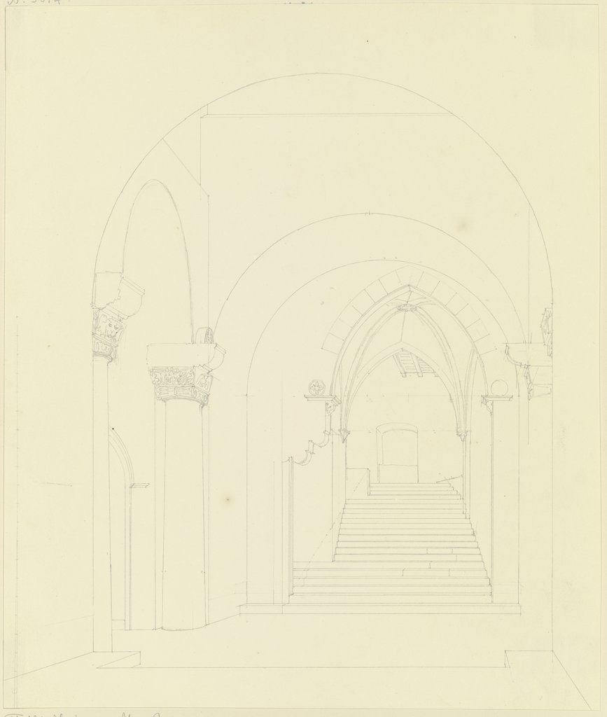 Vaulted stairs, Friedrich Maximilian Hessemer