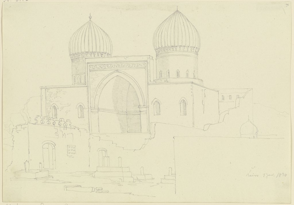 Buildings in Cairo, Friedrich Maximilian Hessemer