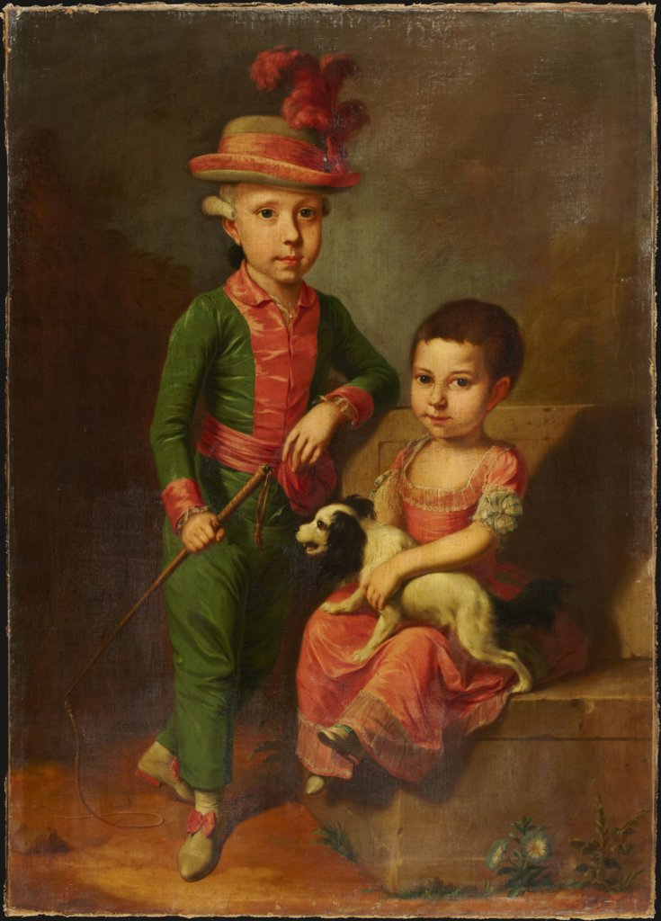 Double Portrait of Johann Georg von Holzhausen (1771-1846) and His Sister Henriette (1773-1834), Heinrich Jacob Tischbein   ?