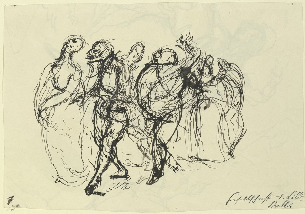 Figures from the court festivity, Kurt von Unruh