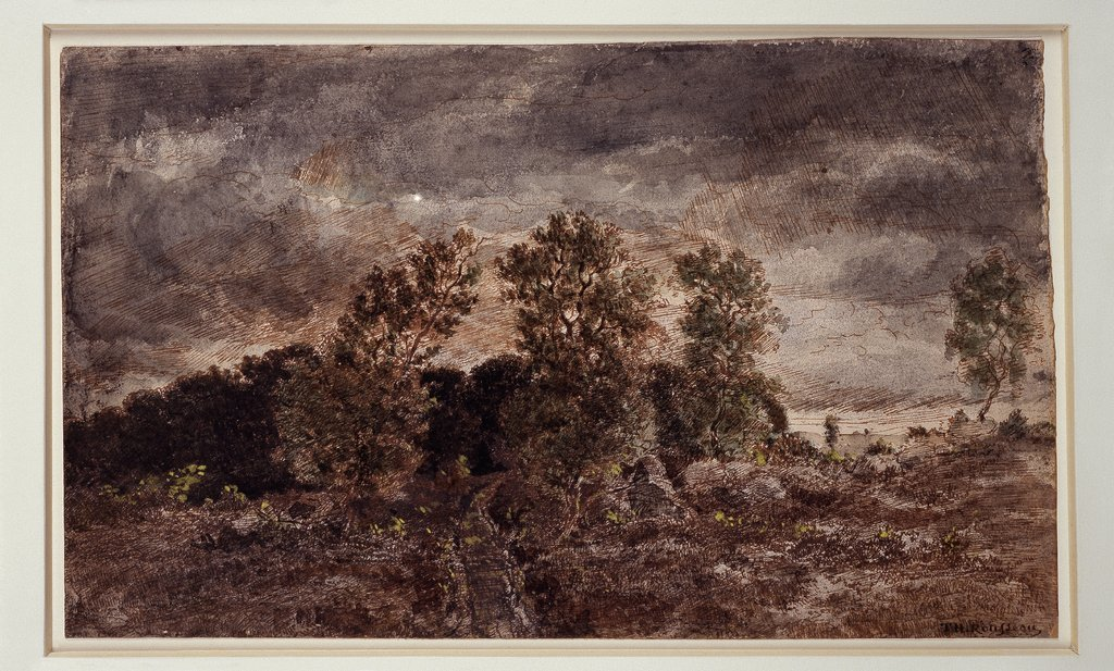 Landscape with thunderstorms, Théodore Rousseau