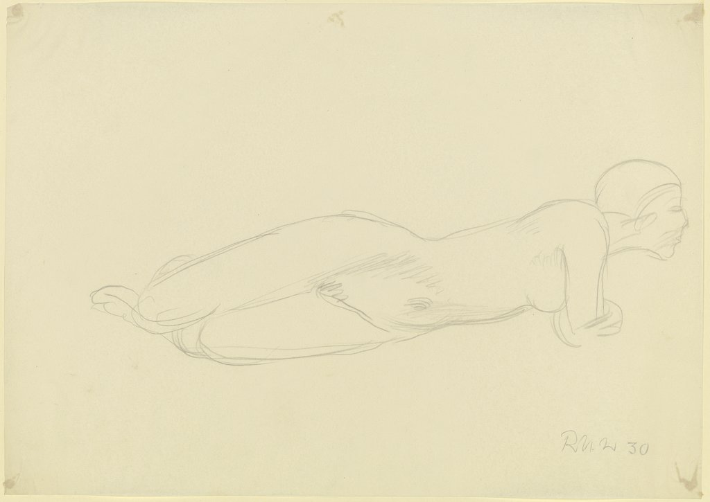 Female nude, reclining, Richard Martin Werner