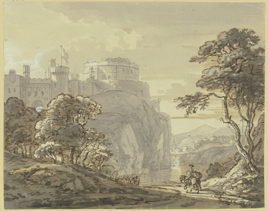 Ansicht von Windsor Castle, Paul Sandby