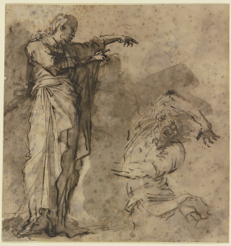 "Study for ""Christ Exorcising a Demon"", Salvator Rosa"