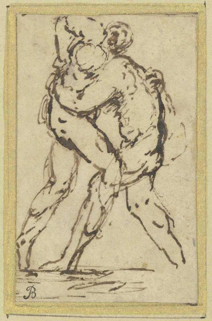 Studies of Wrestlers, Jusepe de Ribera