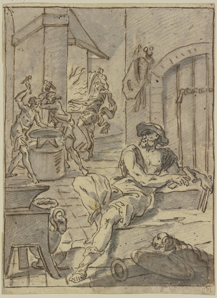 In Vulcan's smithy, Salvator Rosa