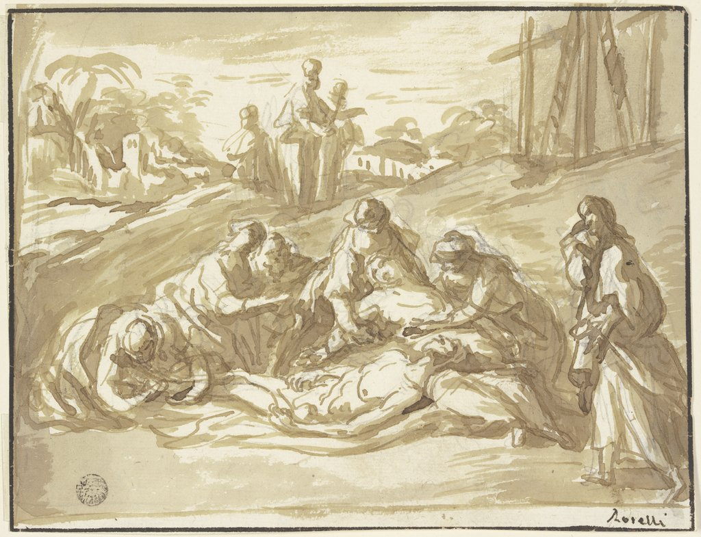 Lamentation of Christ, Matteo Rosselli