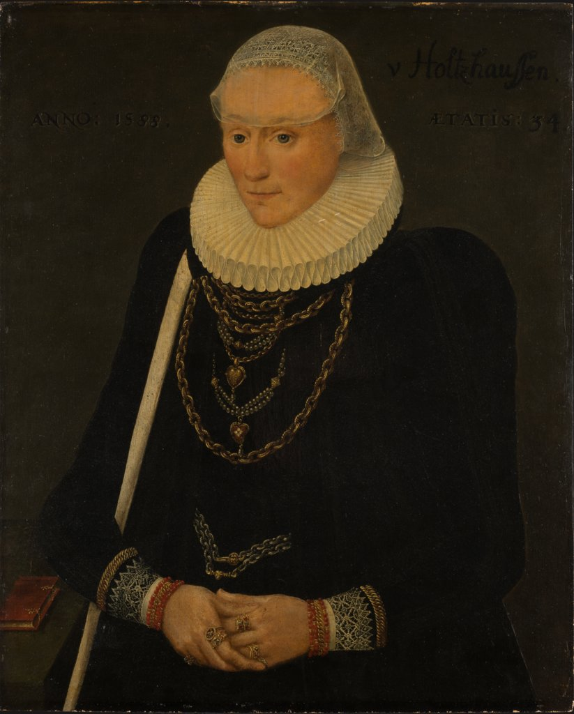 Portrait of Margaretha Völker, née Holzhausen, Middle-Rhenish Master of 1588