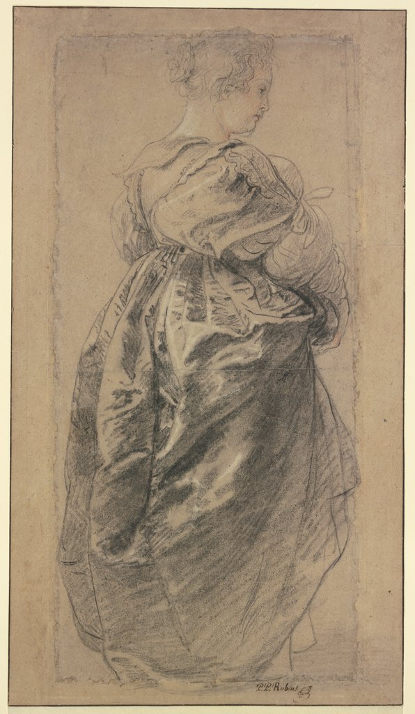 "Figural Study for the ""Garden of love"": Hélène Fourment, Peter Paul Rubens"