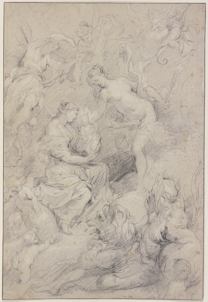 Die Geburt der Prinzessin in Florenz am 26. April 1573, Peter Paul Rubens   ?